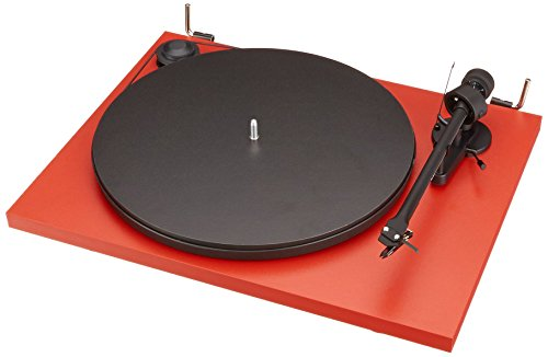 Pro-Ject Essential II - Tocadiscos, rojo