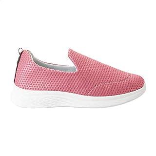 أحذية Grinta من القماش الكتاني بمقدمة دائرية ذات تفاصيل مخيطة سهلة الارتداء للنساء