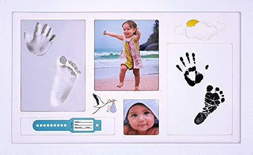 TopStrale, marco de huellas de bebé, kit de calco manos y pies...