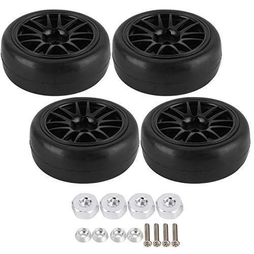 RC Drift Tires Set, Drift Tire Accesorios de Piezas de Coche RC Resistentes al Desgaste Caucho para camión de Control Remoto WPL D12 para Coche RC a la Deriva de Carreras en Carretera