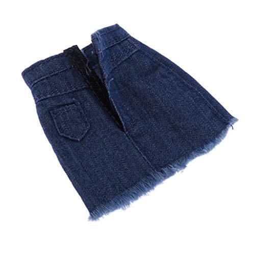 P Prettyia 1/6 Skala Jeansrock Outfit Kleidung für 12 Zoll Weibliche Action-Figur