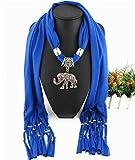 WDYBXYL La Mujer Bufanda Colgante Collar De Borlas De Elefantes Preciosas Bufandas