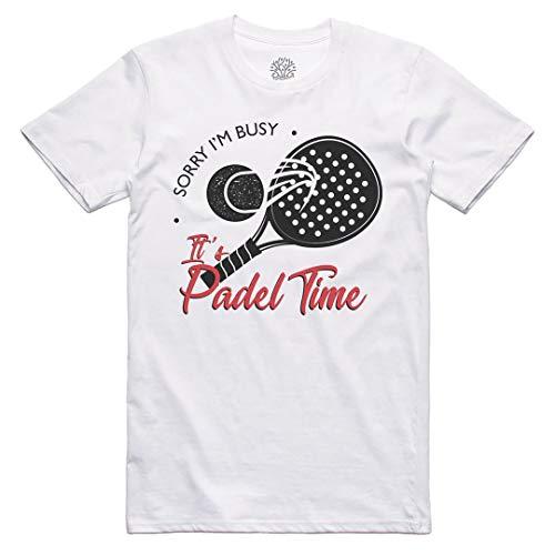 Zefiro - Camiseta divertida para los jugadores del deporte - Algodón 100% orgánico Blanco - Padel Time XL