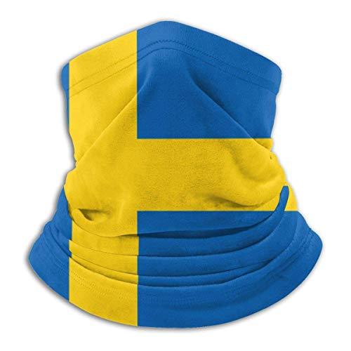 Rcdeey Bufanda de Tubo, Tocado Resistente, Bandera Sueca Deportes al Aire Libre Calentador de Cuello Diadema BandaBalaclava