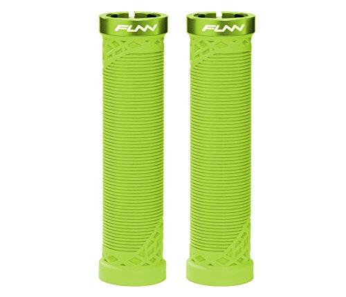 Funn Hilt Mountain Bike Handlebar Grips with Single Lock-on Clamp, Lightweight and Ergonomic Grips for MTB (Green)
