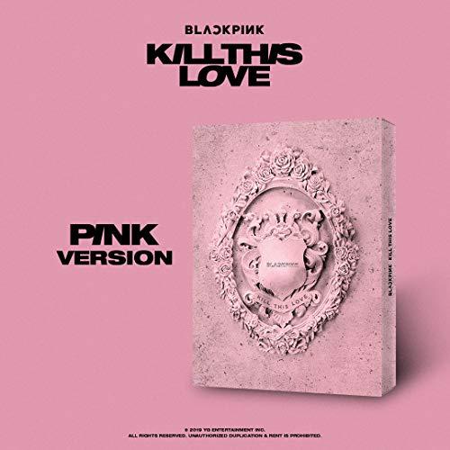 BLACKPINK - [KILL THIS LOVE - PINK Ver.] (2ND Mini Album) CD + Photobook + Photo zine + Lyrics + Postcard+Polaroid Photocard +Sticker Set + Folded Poster+Free Gift (Double side photocard & Key ring)