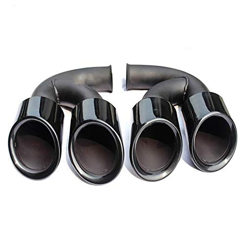 HTSM Tubi di Scarico Silenziatori in Acciaio Inossidabile Gloss Black Tail Punte di Scarico Marmitta per Po&rs-Che per Cayenne V6 V8 2011 2012 2013 2014 (Dimensione : V6)