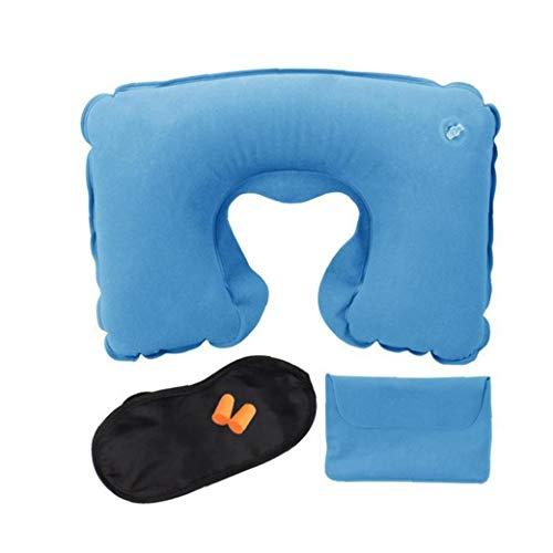 Dormir Set Viaje Inflable En Forma De U Almohada De Viaje Oído Ojo Del Sueño Facial Protección De Los Enchufes De Aire Portátil Almohadilla Del Cuello De Azul Del Viaje Al Aire Libre 3 Pc Tool