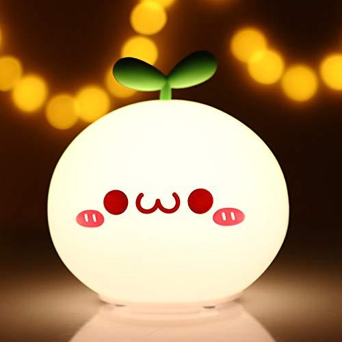 Huguo USB LED lámpara de luz Nocturna Suave Silicon Touch Sensor Dibujos Animados 5V 1200 mAh 8 Horas de Trabajo niños Lindo luz Nocturna BP-D-PPD-U Smile