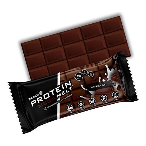 Hench Protein Mega Melt - 20% Protein - Low Sugar - 9 Vitamins (Milk Chocolate, 6 x 50g)