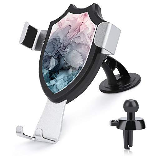 Soporte de ventilación para coche con manos libres para teléfono celular, colorete y paynes, pintura abstracta, color gris, compatible con iPhone 12/12 Pro/11 Pro Max/8 Plus y más de 4 a 6 pulgadas