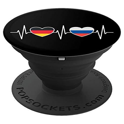 Deutschland Russland Russisch Flaggen Flagge Fahnen Russen - PopSockets Ausziehbarer Sockel und Griff für Smartphones und Tablets