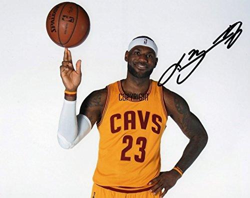 Lebron James basketball fotografia firmato edizione limitata + stampato Autograph