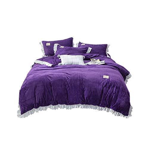 XXT Modestars Vierteiliger Bett-Rock, Bettdecke, Bett-Rock-Bett-Abdeckungs-Staubschutz, nach Hause gefalteter dreidimensionaler Bett-Rock Textil (Color : C, Size : 2.0m*2.2m)