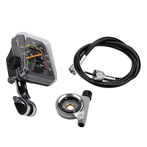 Yosoo Health Gear Tachimetro Meccanico per Bici, contachilometri analogico del tachimetro per Bicicletta