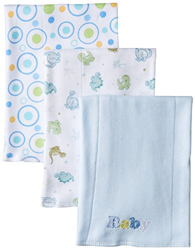 Spasilk Baby-Boys Newborn 3 Pack 100% Cotton Burp Cloths