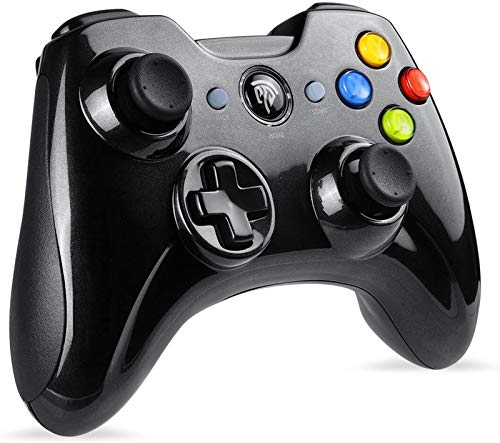 GXT Gamepad Wireless Controller, 2-Pack für PC, USB-Controller Gamepad für PS3 / Android/Windows mit Dual Vibration, Turbo-Funktion