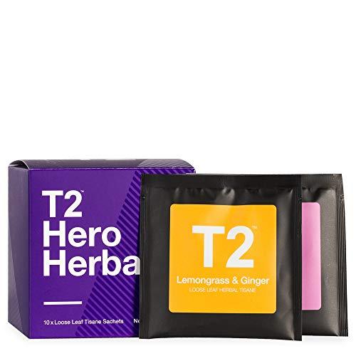T2 Tea Hero Herbals - Assorted Tea Sampler Gift Box, 10 Loose Sachets, 35g
