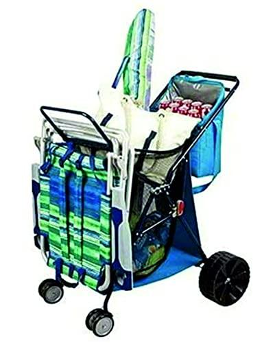 TECNOLIFE Carro DE Playa Plegable con Nevera Y PORTASILLAS Bahama Bay. Compatible con sillas de Playa Bajas Tommy Bahamas.