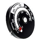 Laileya Termómetro Estufa de Combustible Tubo de Calor de Potencia de Fans de Madera de la aleación Medidor de Temperatura Accesor de Chimenea