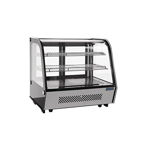 Polar CD230mostrador refrigerado pantalla Merchandiser, 160L