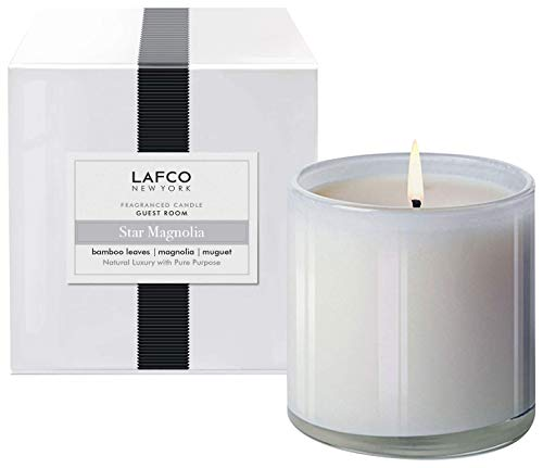 LAFCO New York Signature Scented Candle (Star Magnolia, Guest Room - 15.5 oz)