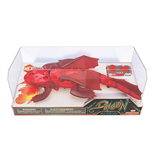 HEXBUG Remote Control Dragon - Rechargeable Toy for Kids - Adjustable Robotic Dinosaur Figure - Colors May Vary