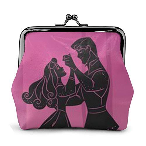 Klassische Geldbörse mit Schnalle, Bella Durmiente Exquisite PU-Leder-Clutch-Brieftasche