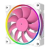 アイネックス リングARGB LEDファン 120mm PWM ZF-12025-PINK