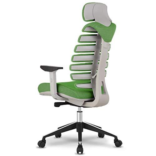 Scra AC Sedia dell'ufficio della Maglia Sedia Regolabile Rotary Computer scrivania e Sedia, Sedia in Pelle Gaming Chair da Corsa Stile di Alta Back Office ergonomico esecutivo (Colore: Verde)