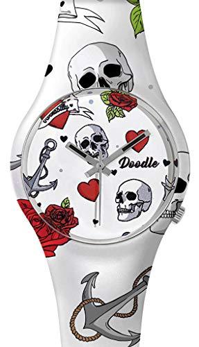 DOODLE Watch ? Armbanduhr für SIE& IHN Ø 39mm | Silikon > Herzen & Totenköpfe > DOTA004