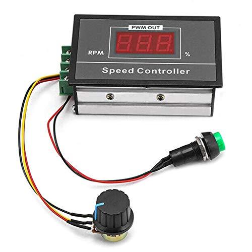 Regulador de velocidad de motor CC 6-60 V 30 A 12 V 24 V 36 V 48 V PWM regulador de velocidad regulable sin niveles con interruptor Start Stop