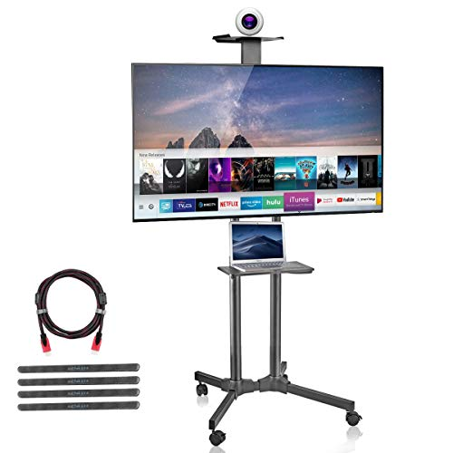 suptek Rolling TV Cart Mobile TV Mount Stand with Wheels and Shelves for 32-70 inch Flat Screen, LCD, LED, Plasma (ML5074)
