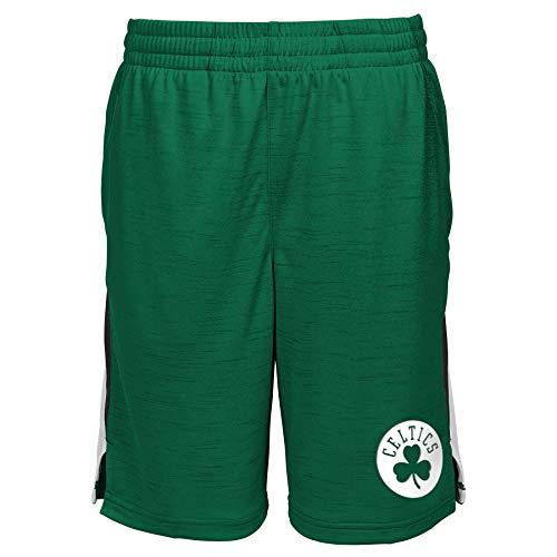 Outerstuff NBA Big Boys Youth (8-20) Content Performance Shorts, Boston Celtics Medium (10-12)