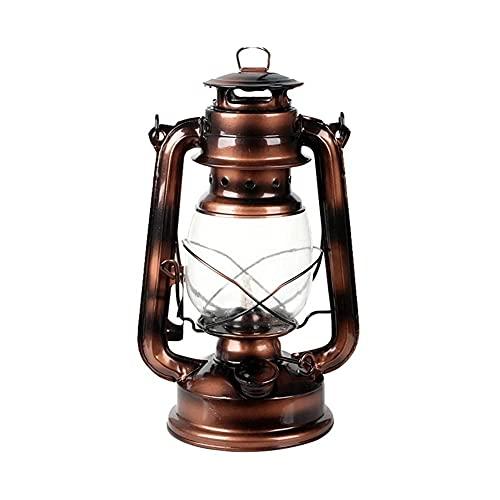 NC Lámpara de Aceite de huracán Linterna ardiente - Lámpara de Queroseno Linterna de Queroseno Vintage Lámpara de Aceite Lámparas de Aceite Ligeras portátiles para Acampar al Aire Libre
