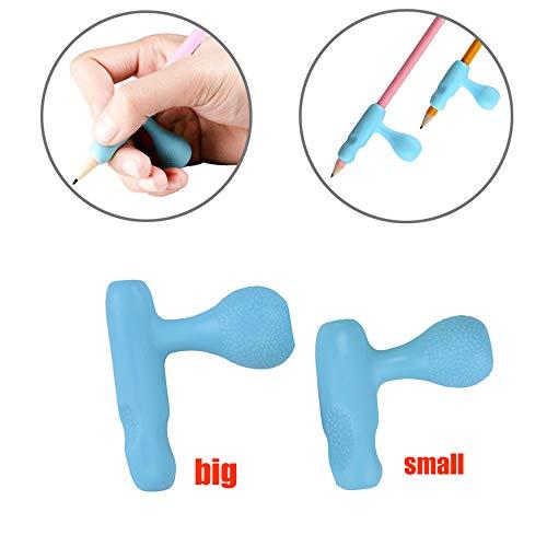 Zehenabscheider, 2 Stück Kinder Bleistifthalter Stift Schreibhilfe Griff Haltung Korrektur-Tool, Büromaterial
