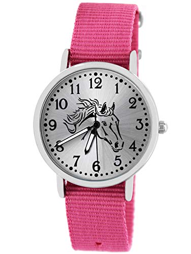 Pacific Time Kinder Uhr analog Quarz mit Textilarmband 10401