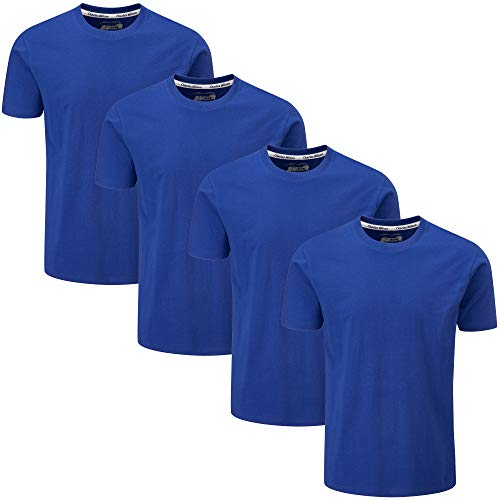 Charles Wilson 4er Packung Einfarbige T-Shirts mit Rundhalsausschnitt (Large, Blueberry)