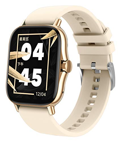 Smart Watch for Android Phones iOS Heart Rate Monitor Blood Pressure Blood Oxygen Message Reminder Rich Dials Phone Call Long Battery Life Fitness Tracker for Men Women