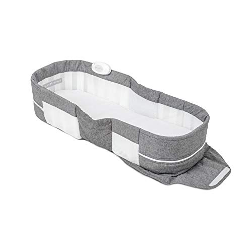 Baby Delight Snuggle Nest Harmony Portable Infant Lounger | Charcoal Tweed | Unique Patented Design | Baby Lounger