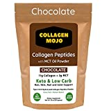 Keto Collagen Mojo Peptides Powder with MCT Oil - Creamer for Coffee, Shakes & Snacks - Pre & Post Workout - Curb Cravings - Promote Weight Loss - Hair, Skin, Nail & Joint Supplement - Chocolate