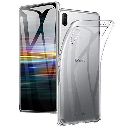 REY Funda Carcasa Gel Transparente para Sony Xperia L3, Ultra Fina 0,33mm, Silicona TPU de Alta Resistencia y Flexibilidad