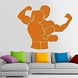 ASFGA Manubri muscolari Fitness Club Decalcomania Palestra Adesivo Decorazione Poster Vinile Decoracion Decalcomania della Parete murale Auto Palestra Adesivo 20x25 cm
