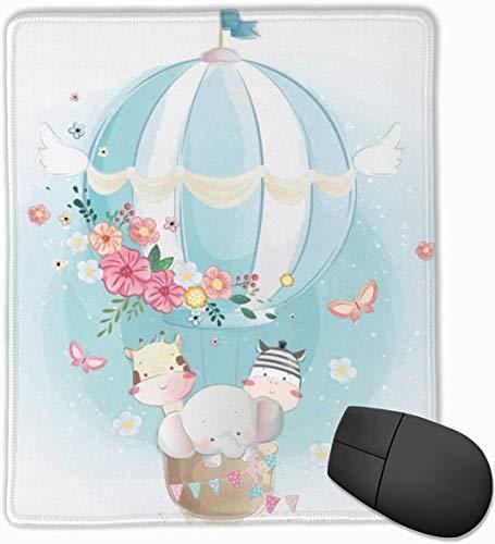 Niedliche Tiere Luftballon Mauspad, rutschfeste Gummibasis Gaming-Mauspad mit Sperrkante 9,8 'x 11,8'