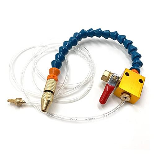 Carburador y piezas CNC Lubricación de torno Boquilla de perforación, sistema de pulverización de tubería de aire de 8 mm Máquina de grabado de trabajo pesado Fresado de metal Piezas para coche