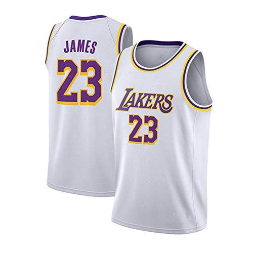 ZXZXING Herren Trikot - NBA Lakers 23# James Embroidered Mesh Basketball Swingman Trikot