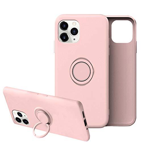 Funda para iPhone 11/11 Pro Apple Case,Fundas iPhone 11/11 Pro Silicona Antigolpes Carcasa Gel de sílice líquido Compatible con Posterior Magnético Iman (iPhone 11 Pro, Rosa)
