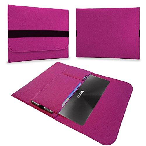 UC-Express Tasche Notebook 13,3 Zoll Hülle Schutzhülle Ultrabook Filz Case Cover Sleeve Bag, Farben:Pink, Notebook:Blaupunkt Endeavour 1013