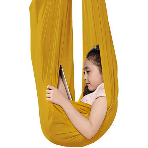 CWYP-MS Terapia Interior Columpio Colgando Abrazar Hamaca para Mejorar Yoga Inversiones Flexibilidad Fuerza Core Terapia Física Swing para hamacas de integración sensorial