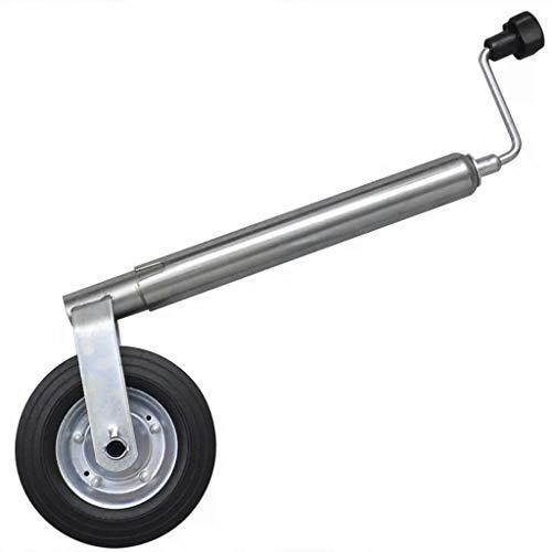 Cikonielf - Rueda de medidor para remolque y caravana, carga 150 kg, diámetro 48 mm